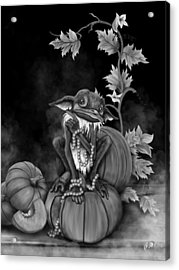 Explain Yourself - Black And White Fantasy Art Acrylic Print by Raphael Lopez