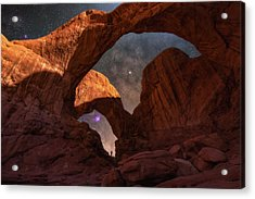 Explore The Night Acrylic Print by Darren White