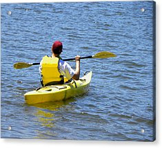 Acrylic Print featuring the photograph Exploring In A Kayak by Sandi OReilly