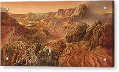 Exploring Mars Nanedi Valles Acrylic Print by Don Dixon