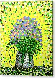 Explosive Flowers Acrylic Print by Alan Hogan