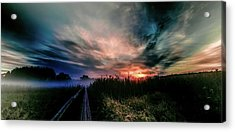 Acrylic Print featuring the photograph Explosive Morning #h0 by Leif Sohlman