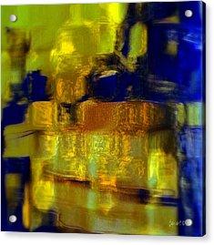 Exposed Brick And Paint Acrylic Print by Fania Simon