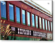 Acrylic Print featuring the photograph Express Restaurant by John Rizzuto