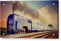 Acrylic Print featuring the photograph Express by Steven Agius