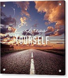 Express Yourself Acrylic Print by Mark Ashkenazi