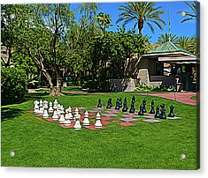 Acrylic Print featuring the photograph Expressionalism Chess At The Biltmore by Aimee L Maher Photography and Art Visit ALMGallerydotcom