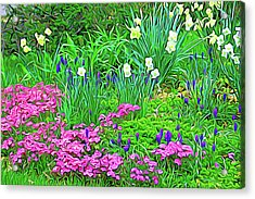 Acrylic Print featuring the photograph Expressionalism Garden Escape by Aimee L Maher Photography and Art Visit ALMGallerydotcom