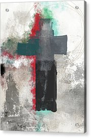 Expressionist Cross 4- Art By Linda Woods Acrylic Print