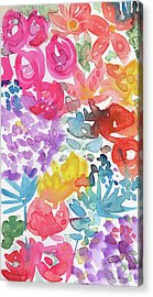 Expressionist Watercolor Garden- Art By Linda Woods Acrylic Print