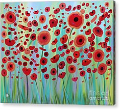 Expressive Poppies Acrylic Print