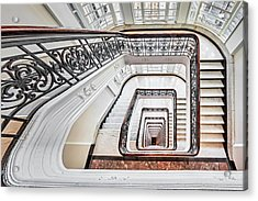 Acrylic Print featuring the photograph Exquisite Staircase Nyc  by Susan Candelario