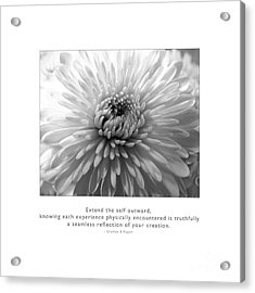 Acrylic Print featuring the photograph Extend The Self Outward by Kristen Fox
