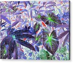 Extravagant Blue Acrylic Print by Rosalie Scanlon