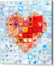 Extreme Makeover Home Edition Katrina's Heart Two Acrylic Print by Boy Sees Hearts