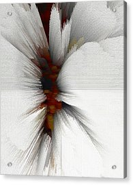 Acrylic Print featuring the digital art Sculptural Series Painting 51.072110windblscext1590l10110l by Kris Haas
