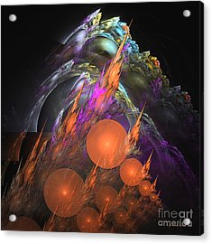 Acrylic Print featuring the digital art Exuberant - Abstract Art by Sipo Liimatainen