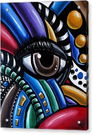 Eye Am - Abstract Eye Art Acrylic Print