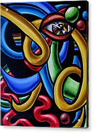 Eye Am The Prize - Chromatic Abstract Painting - Print Acrylic Print
