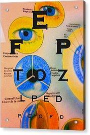 Eye Chart Acrylic Print
