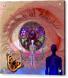 Eye Solar Acrylic Print by Joseph Mosley