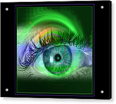 Eye For Pool Acrylic Print by Draw Shots