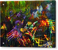 Acrylic Print featuring the painting Eye In Chaos by Claire Bull
