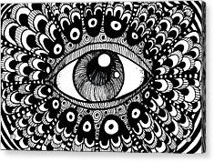 Eye Of March Acrylic Print by Nada Meeks