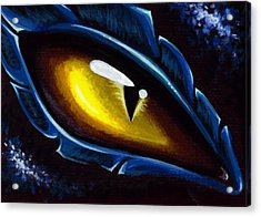 Eye Of The Blue Dragon Acrylic Print by Elaina  Wagner