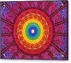 Eye Of The Chakra Storm Acrylic Print by Baruska A Michalcikova