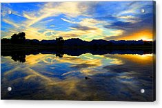 Acrylic Print featuring the photograph Eye Of The Mountain by Eric Dee