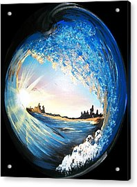 Eye Of The Wave Acrylic Print