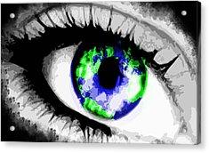 Eye Of The World Acrylic Print by Danielle Kasony
