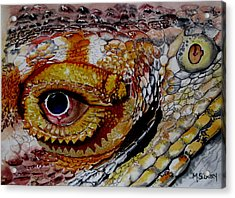 Eye On The Matter Acrylic Print by Maria Barry