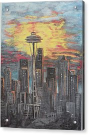 Eye On The Needle Acrylic Print by Dan Bozich