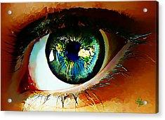 Eye On The World Acrylic Print by Lynda Payton