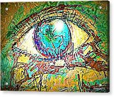 Eye Post-impressionist Acrylic Print by Paulo Zerbato