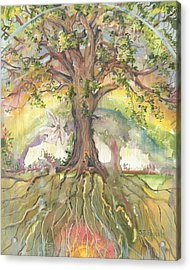 Eye See My Healing Tree Acrylic Print