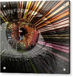 Eye Thoughts Acrylic Print by Katie Ransbottom