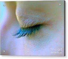 Eyelashes Acrylic Print