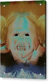 Eyeless Girl Acrylic Print by Tisha Beedle
