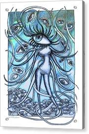 Eyes Acrylic Print by Frank Robert Dixon