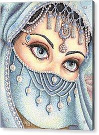 Eyes Like Water Acrylic Print by Scarlett Royal
