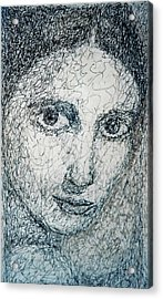 Eyes Acrylic Print by Maria Valladarez