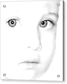Eyes Of A Child Acrylic Print by Kathleen Stephens