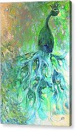Eyes Of Eden Peacock Acrylic Print