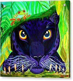 Eyes Of The Rainforest Acrylic Print by Nick Gustafson