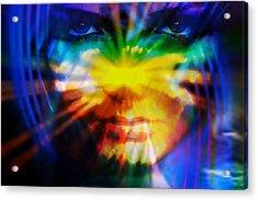 Acrylic Print featuring the digital art Eyes Of Truth by Shadowlea Is