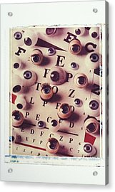 Eyes On Eye Chart Acrylic Print