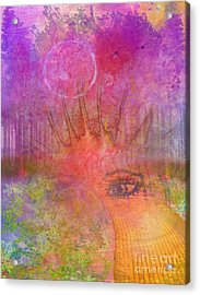 Eyes To The Soul Acrylic Print by Desiree Paquette